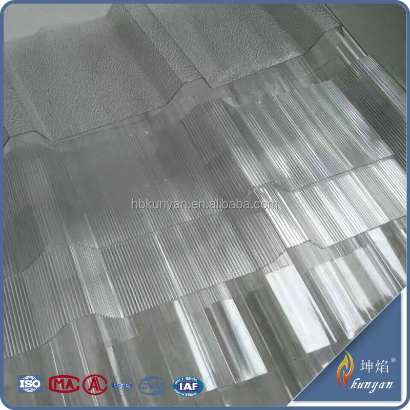 Hot sale polycarbonate transparent corrugated plastic roofing sheets