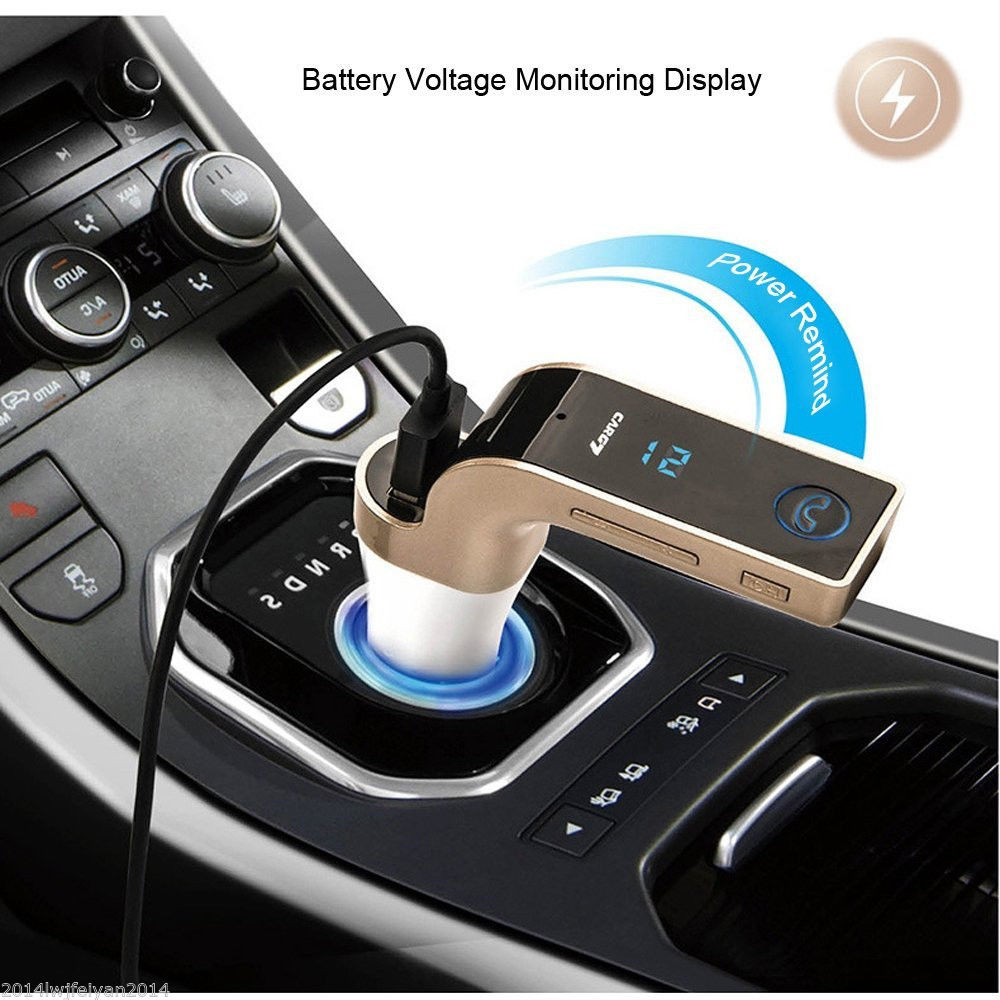 Wireless Bluetooth Handsfree Panggilan FM Transmitter Radio Adapter Charger Mobil