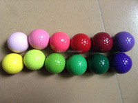 Bright colored cheap promotional golf balls in stock