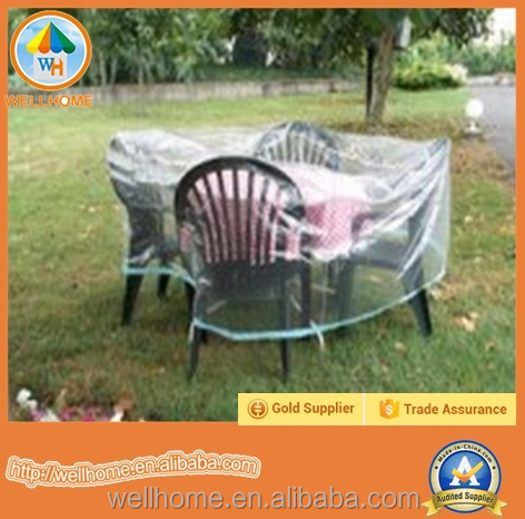 Waterproof Transparent Round Square PEVA Outdoor Garden Furniture Table Chair Slip Covers Round Sofa Cover Protector