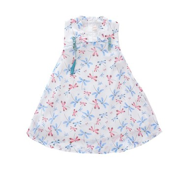 2018 boutique fashion girls chinese style print flower clothing with good quality and service