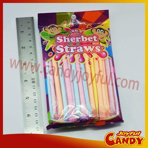 Straw Sour Powder Stick Candy / Sherbet Straws