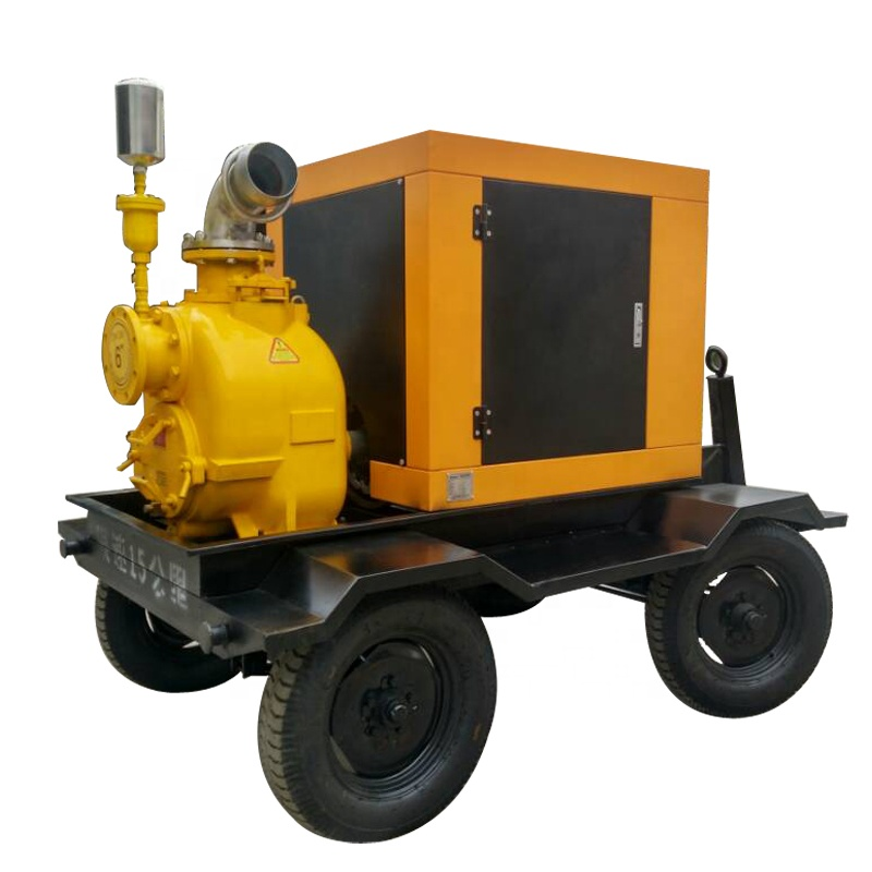 6 inch 300 m3/h trailer mounted diesel engine water pump in trash station