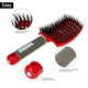 Israe antistatic magnet hair brush with boar bristle for hair extension plastic vent curved hair brush