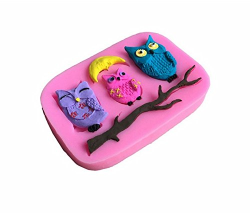 Pinkie Tm Owl Fondant Cake Silicone Mold Chocolate Clay Resin Mould Sugarcraft Cake Decorating Tools
