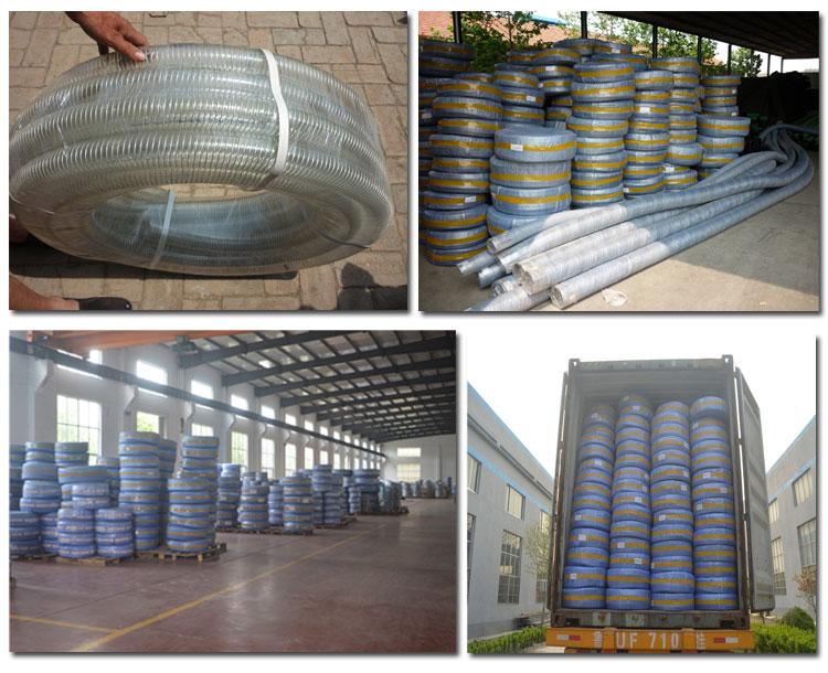 ברור pvc מחוזק שקוף צינור צינור 4 אינץ ברור pvc צינור של סין