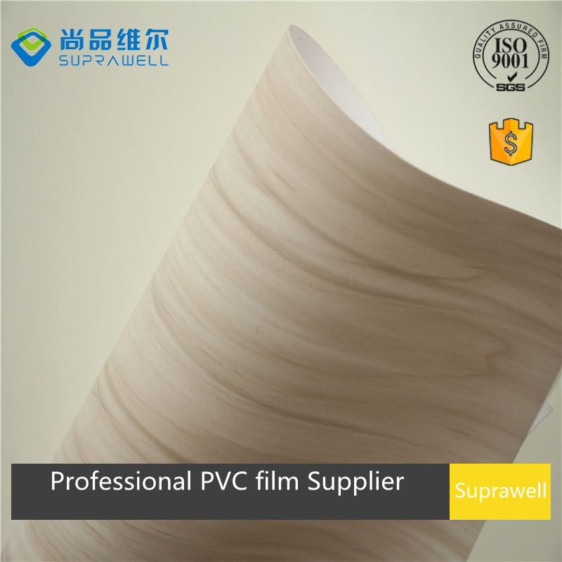 2017 new design color clear wood grain PVC decoration film for MDF board