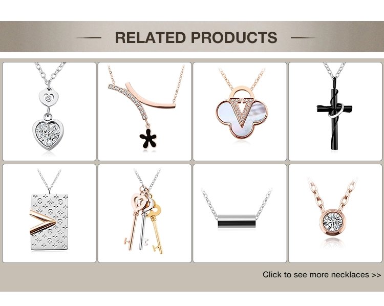 charming fashion stainless steel women's jewelry sets, custom pendant and earrings sets