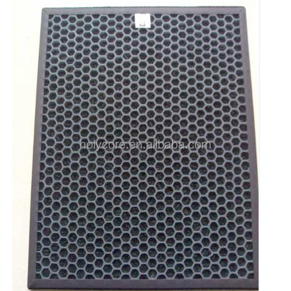 Hepa carbon air filter made of pp honeycomb core