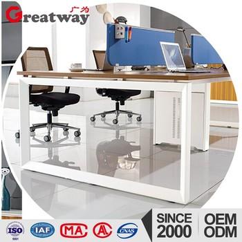 Bureau Open Space New Model Curved Office Desk Wooden Designs