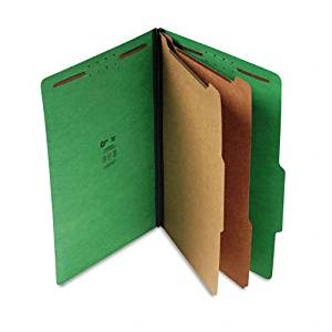 S J Paper : Expanding Classification Folder, Lgl, 6-Section, Emerald Green, 15/Box -:- Sold as 2 Packs of - 15 - / - Total of 30 Each