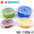 4 in 1 Silicone Soft Travel Portable Folding Seal Collapsible Storage Box Food Container