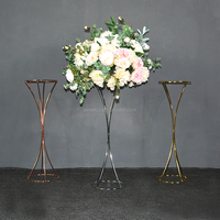 wedding deco of hourglass sharp enterpiece metal flower stand for event decoration