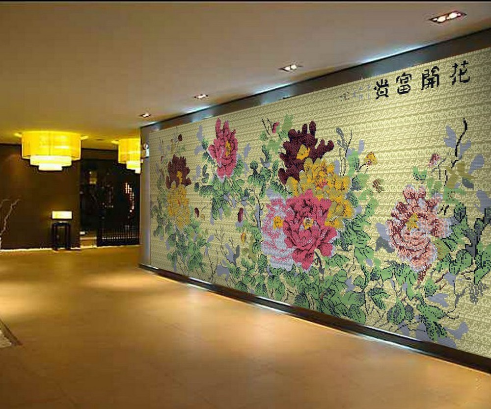 CHINA METAL MOSAIC TILES FOR ROOM DECOR CHEAP PRICE FLOWER