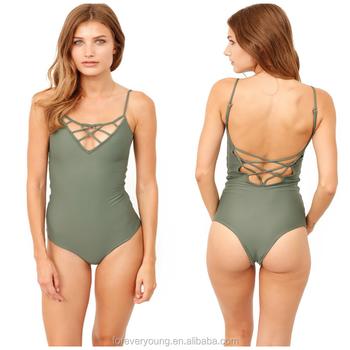 f36c50ece78 OEM bikini factory double lined Cheeky Brazilian Cut one piece women  swimsuit