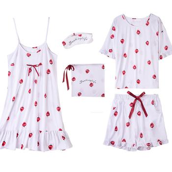 d1f6850512 Cute Girl s Strawberry Printing Sleepwear Fancy Nighty Dress Set ...