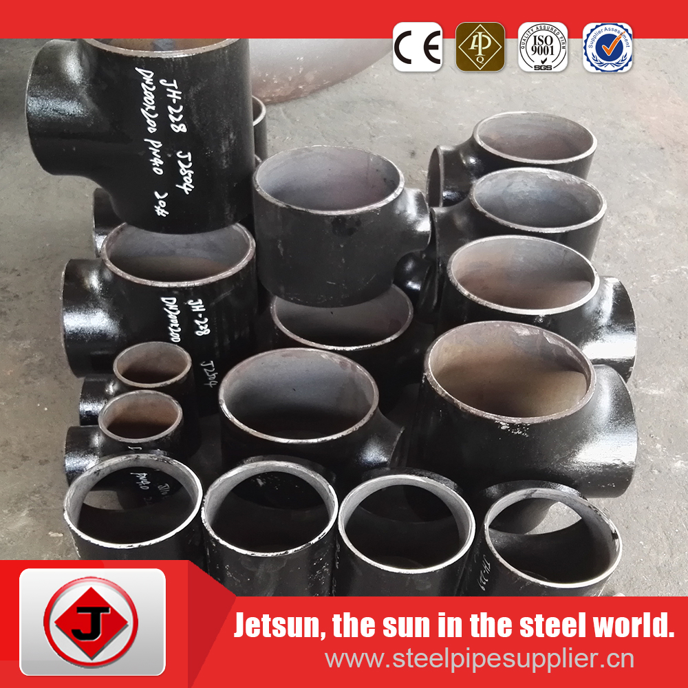 welding ASTM A234 WPB carbon steel pipe fittings(elbow,tee,cap,reducer)