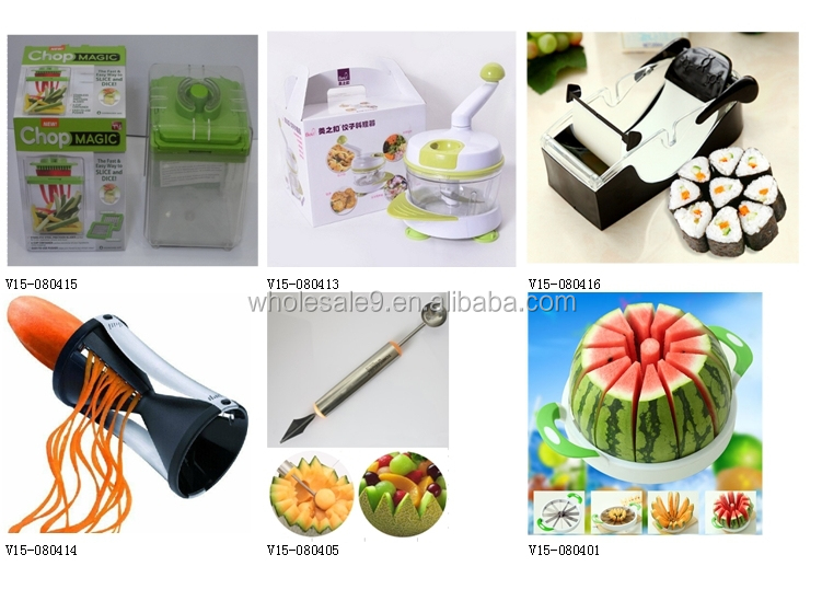 Vegetable Slicer Fruit Salad Spinner Chop Wizard Kitchen