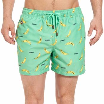 0396c0e1f1 Wholesale Custom Men Swim Wear Bananas Printing Pale Green Swim Trunks 100  Polyester Board Shorts