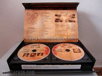 High quality eco cd dvd gift box and dvd storage box case