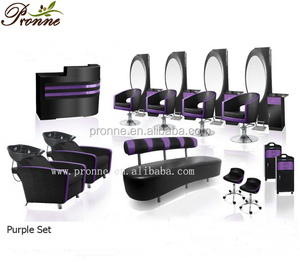 China supplies beauty hair salon furnitures and equipment purple set