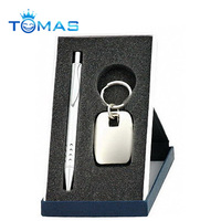 High quality zinc alloy promotional novelty boxed ball pen gift set