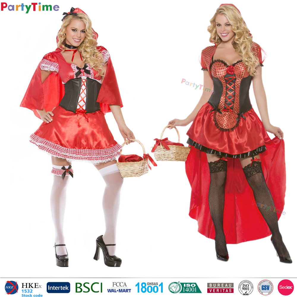 SK29 sexy womens halloween dresses fairytale little red riding hood cosplay adult costume