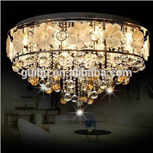 Sith Sense pastoral flowers crystal ceiling lamps bedroom minimalist modern LED Crystal Light warm circle of flowers