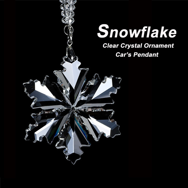 K9 Crystal Snowflake Christmas Ornament, Car Accessories Pendant