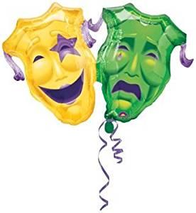 "Single Source Party Supplies - 40"" Masquerade Shape Mylar Foil Balloon"