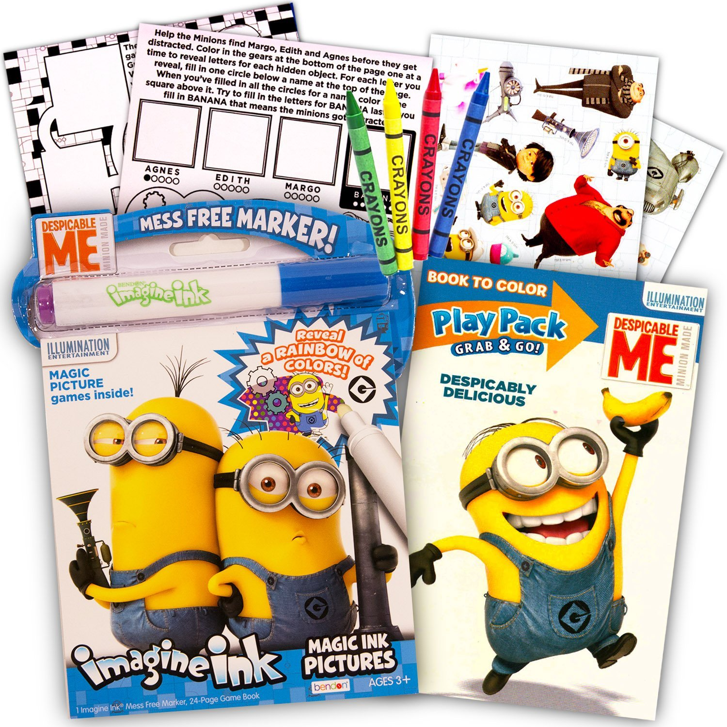 Despicable Me Minions Magic Ink Book and Play Set (Imagine Ink Book, Mess Free Marker and Play Pack)