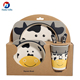 Bamboo Fiber Kids 5 Pcs Dinnerware Meal Set Tableware For Children