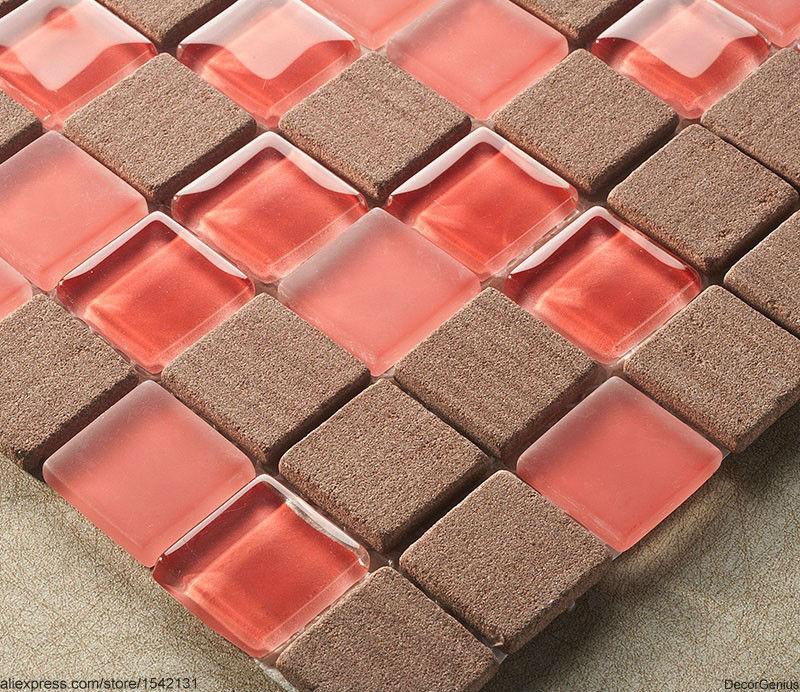Red Kitchen Floor Tiles: Red Floor Tiles Home Kitchen Backplash Brown Wall Tiles 3D