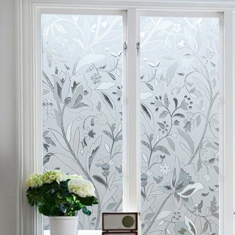 Get Quotations Bloss No Glue Static Cling Window Film Decorative Pattern Design Gl Privacy Covers