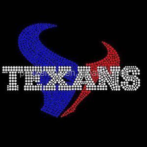 Iron on Texans Rhinestone Transfer for Dallas Texas Clothing