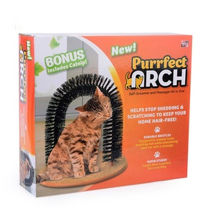 amazon Hot selling Cat scratching toys perfect cat arch groomer as Seen On TV pets 2017