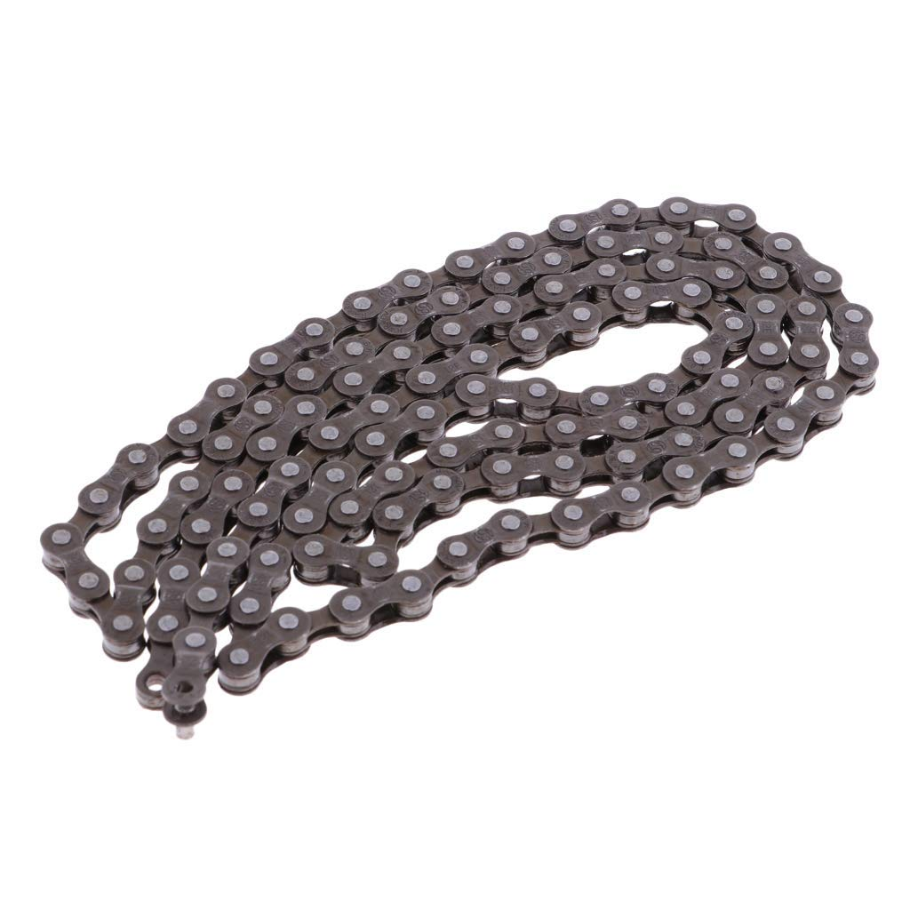 Prettyia Durable Steel 8 Speed Steel Bicycle Chain with 110 Links for Road Mountain Bike Cycling
