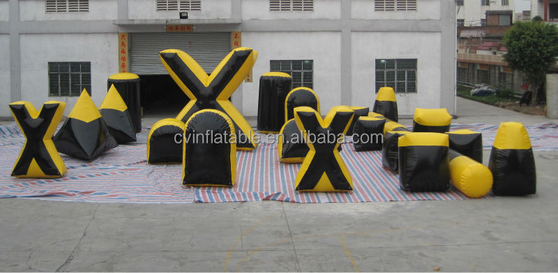 Customized inflatable x bunkers x x, inflatable paintball bunkers, inflatable war game arena for kids and adults