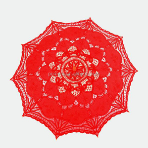 Wholesale High Quality 100% Cotton lace umbrella and automatic patio umbrella