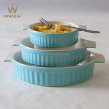 Ceramic bakeware set oven safe stoneware cooking set