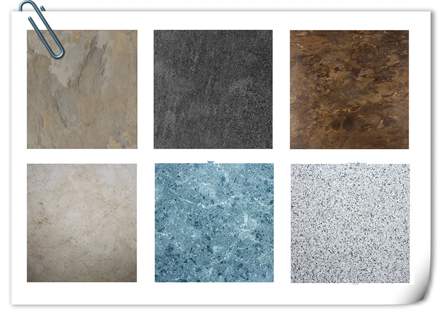 Stone Pattern Shale Texture Glue Down Vinyl Floor Tile