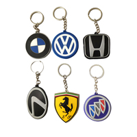 China factory 2d rubber car logo keychain custom logo for promotional gifts