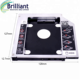 "12.7mm Universal Aluminum Alloy 2nd HDD Caddy IDE to SATA 2.5"" HDD SSD Case Enclosure DVD/CD-ROM Optical Bay For Laptop"