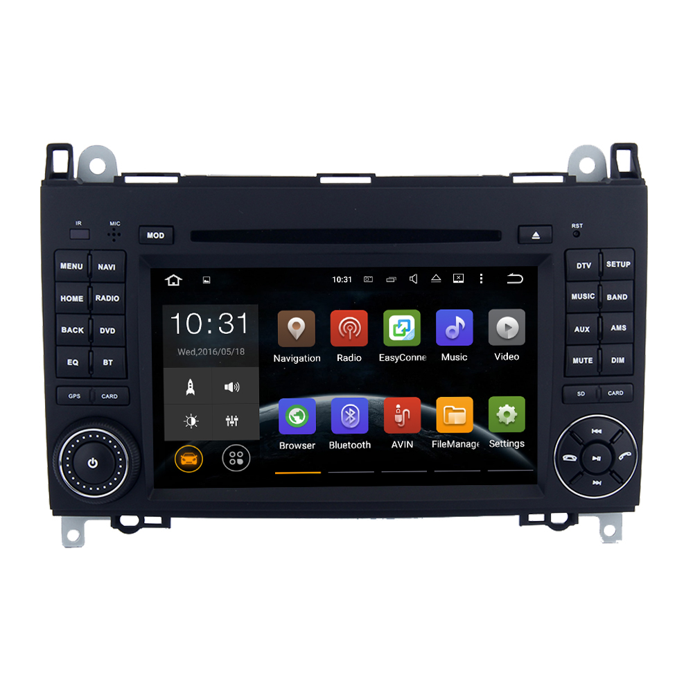 Cheap 7 Inch FM 108MHz touch screen Black colored car dvd player with GPS for Benz Sprinter W906 W209 W311