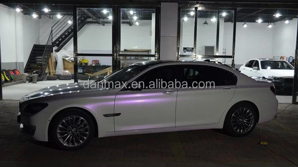 Super Shiny Color Changing Pearl White Chameleon Holographic Car