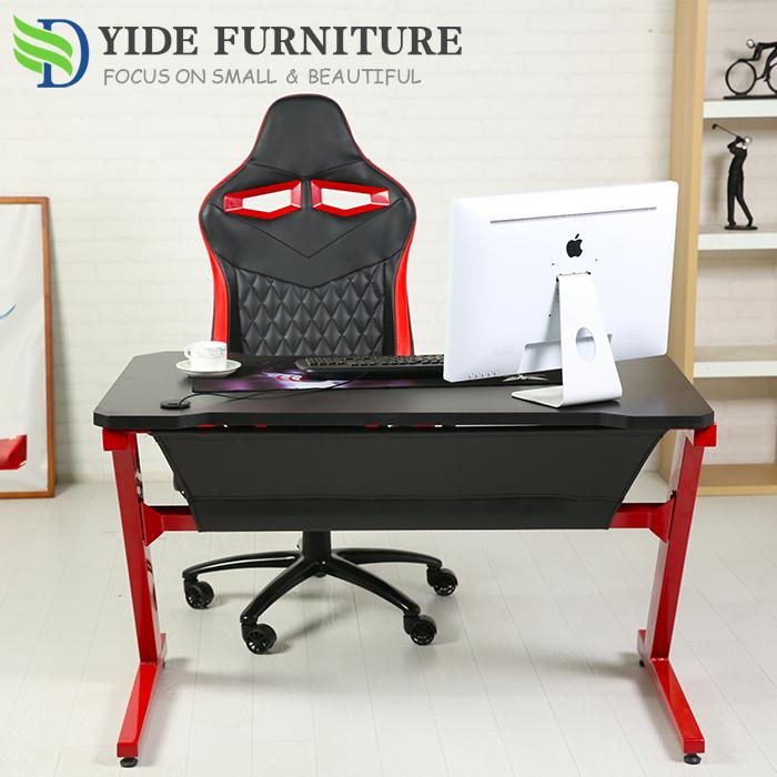 รูปร่างZเกมPCไม้สก์ท็อปสำนักงานโต๊ะคอมพิวเตอร์โต๊ะ