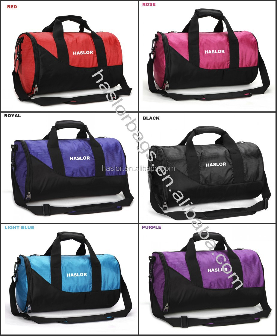 Personalized Cheap Polyester Gym Duffel Travel Bags With