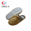 wholesale winter high quality warm leopard print bedroom slippers