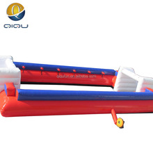 Inflatable sports playground customized cheap price giant soap soccer inflatable football filed for sale for kids with blower