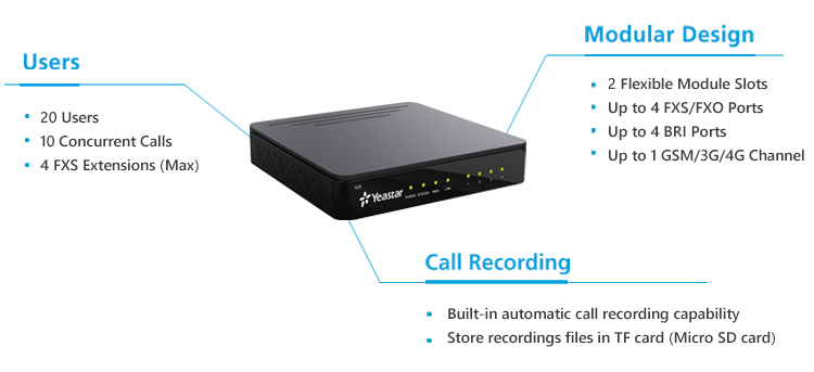 Yeastar S20 Voip Pbx System With Gsm/3g/4g Network For Small Business - Buy  Ip Pbx,Mini Pbx System,Voip Phone System Product on Alibaba com